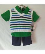 Nautica 3 Pc. Pants Vest and Shirt Set Sz.3/6 Mos. - $23.38