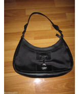 GUCCI Blak Nylon Leather Handbag Shoulder HOBO ... - $195.00