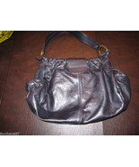 Hogan Black Leather Satchel Handbag  - $122.25