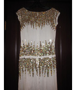 MARC JACOBS Runway Gold Sequined Silk Dress 6 $2400 - $728.50