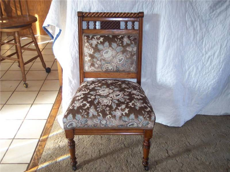 Primary image for Walnut Eastlake Barley Twist Sidechair/Parlor Chair