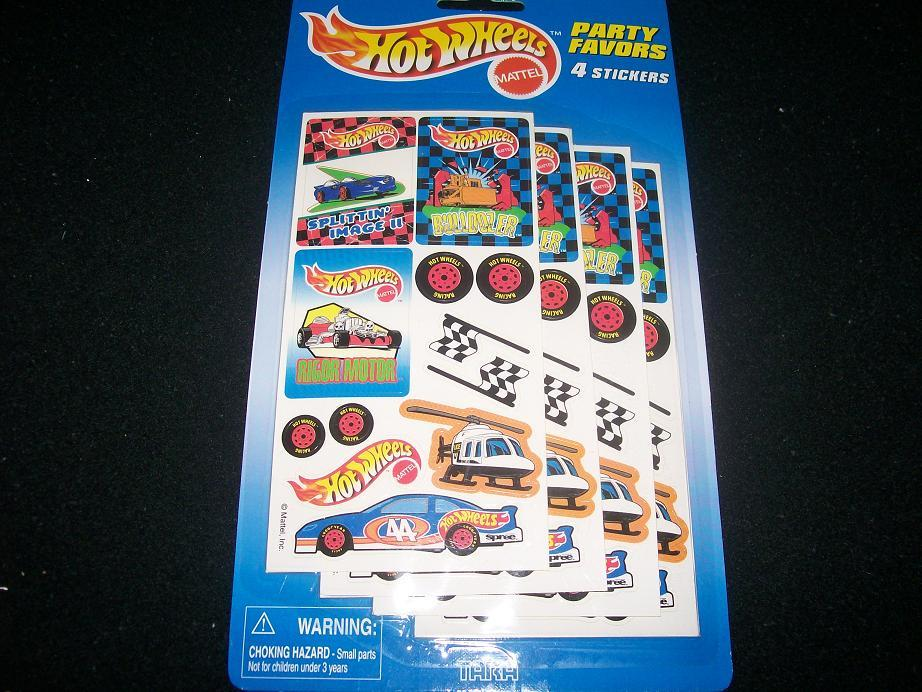 HOT WHEELS PARTY FAVOR PACKAGE SET OF 5 PACKS