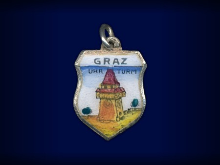 Primary image for Vintage travel shield charm, Graz, Steiermark, Austria