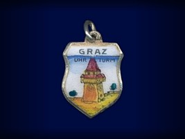 Vintage travel shield charm, Graz, Steiermark, ... - $29.95