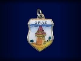 Vintage travel shield charm, Graz, Steiermark, Austria - $29.95