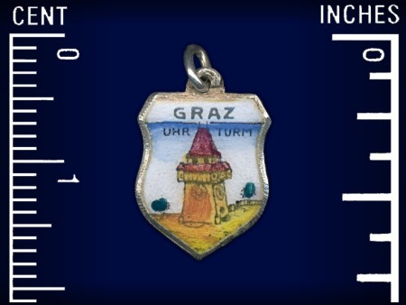 Vintage travel shield charm, Graz, Steiermark, Austria