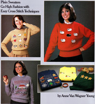 COUNTED CROSS STITCH THE SWEATER BOOK FOR CROSS STITCHERS LEISURE ARTS 375 - $3.50