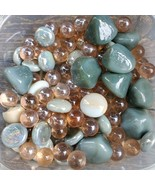 Mixed Glass Gems, Accent Stones, Vase Filler, Marbles, Brown Beige Gray,... - $8.99