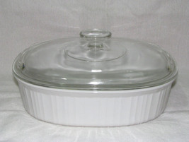 Corning French White F-2-B 2.5 Quart Casserole with Lid - $24.99