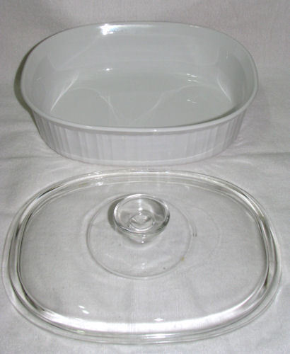 Corning French White F-2-B 2.5 Quart Casserole with Lid