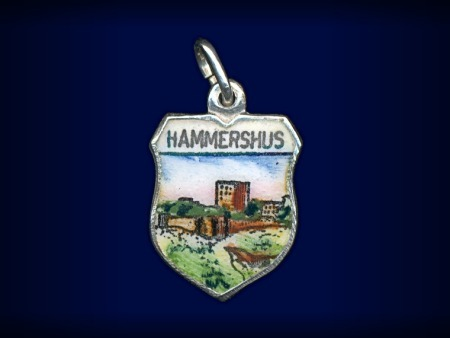 Primary image for Vintage travel shield charm, Hammershus, Bornholm, Denmark