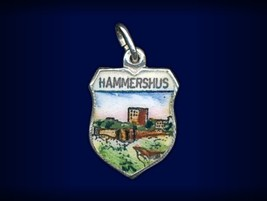 Vintage travel shield charm, Hammershus, Bornho... - $34.95