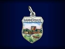 Vintage travel shield charm, Hammershus, Bornholm, Denmark - $34.95