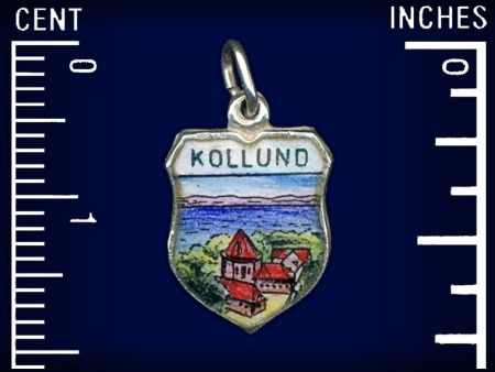Vintage travel shield charm, Kollund, South Jutland, Denmark