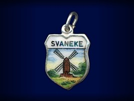 Vintage travel shield charm, Svaneke, Bornholm,... - $34.95