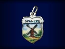 Vintage travel shield charm, Svaneke, Bornholm, Denmark - $34.95