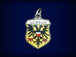 Vintage travel shield charm, Lübeck, Germany - $29.95