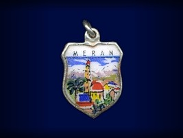 Vintage travel shield charm, Meran (Merano), Italy - $29.95