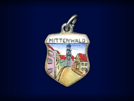 Primary image for Vintage travel shield charm, Mittenwald, Germany
