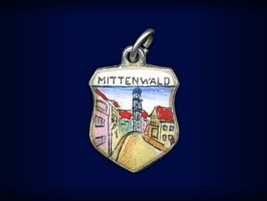 Vintage travel shield charm, Mittenwald, Germany - $29.95