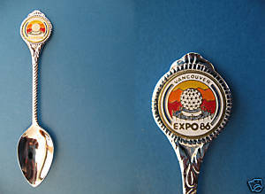 Expo 86 Vancouver BC. Souvenir Collector Spoon Collectible Logo Shield 1986 Fair