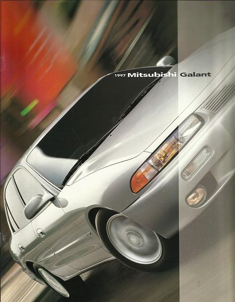 1997 Mitsubishi GALANT sales brochure catalog US 97 DE ES LS