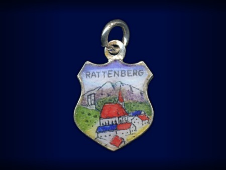 Primary image for Vintage travel shield charm, Rattenberg, Steiermark, Austria
