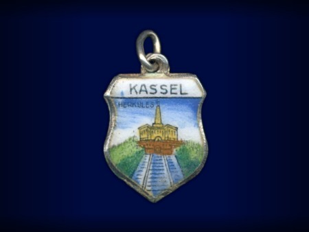 Vintage travel shield charm, Kassel, Germany
