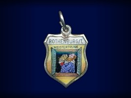 Vintage travel shield charm, Rothenburg ob der Tauber, Germany - $29.95
