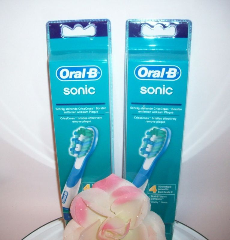 SALE !!! Oral-B Sonic Complete Replacement Toothbrush Heads Refills 8 Pack Braun