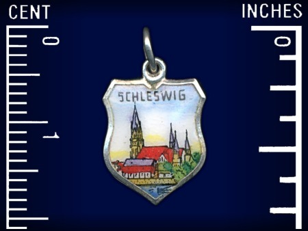 Vintage travel shield charm, Schleswig, Germany
