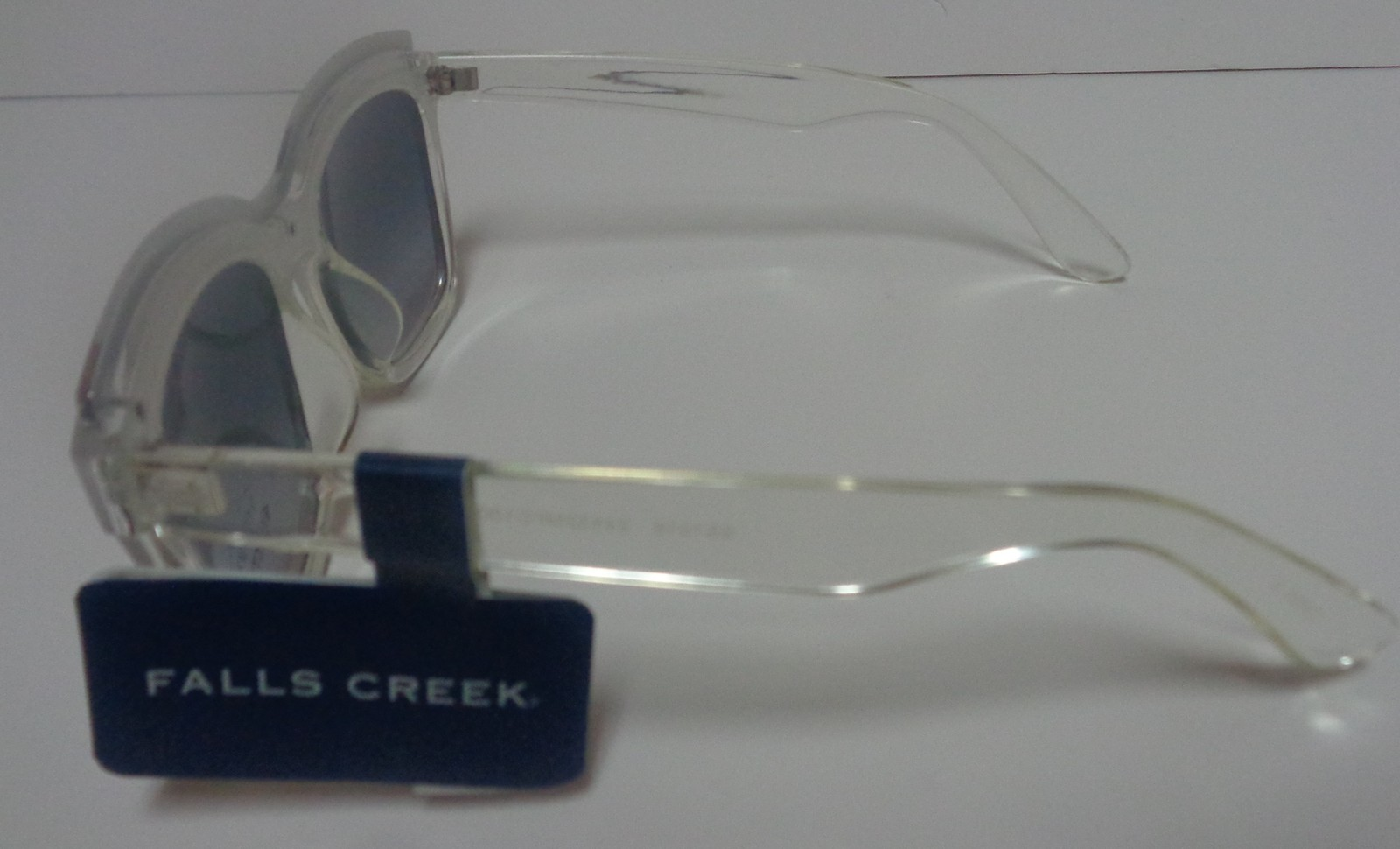 Falls Creek White Clear Sunglasses NWT 100% UV Protection image 3