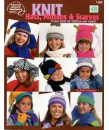 Knit Hats, Mittens & Scarves 9 Sets Sized for Children & Adults American School - $4.95