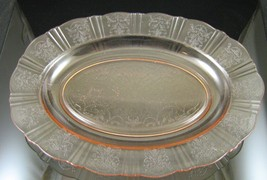 American Sweetheart, Pink, Oval Platter, made by MacBeth-Evans Glass Co., 1930-3 - $45.00