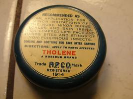 Tholene, Rosebud Perfume Co old lip balm tin, 1914 antique , advertising - $14.27