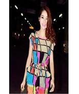 Free Shipping Spring Summer Women's ColorFUL Chiffon Dress, Large Pocket... - $34.99