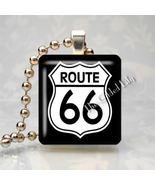 ROUTE 66 SIGN GET YOUR KICKS Scrabble Art Pendant Charm - $8.95