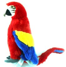 "FAO 12"" Scarlet Macaw Parrot Colorful Stuffed Plush 2014 Toys R Us Geoffrey - $29.99"