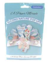 """A Paper Miracle Second Nature Pop Ups GRADUATION CARD """"SKY'S THE LIMIT"""" - $6.43"""