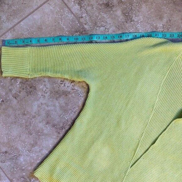 Women's LOFT Green Open Cardigan Sweater Size S image 3