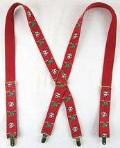 Pelican USA Adjustable Red Elastic Santa & Christmas Trees Suspenders Br... - $12.99