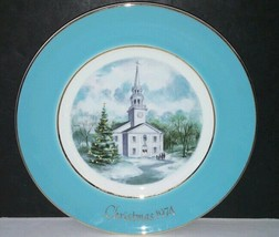 Avon Christmas Plate 1974 Country Church by Enoch Wedgwood - $14.01