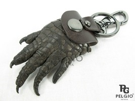 PELGIO Genuine Crocodile Foot Claw Skin Leather Key Ring Keychain Brown - $24.52