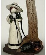 Porcelain Girl with Cholla Cactus Skeleton Birdhouse Friends 10 - $28.00