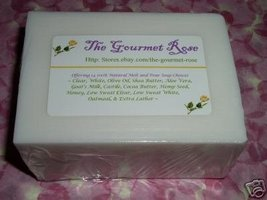 1 lb EXTRA HARD LONG LASTING WHITE Melt and Pour All Natural Soap Base NO SWEAT - $5.95