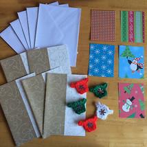 Christmas Card kit Craft DIYswirly Cards envelopes jumper embellishments... - $4.93