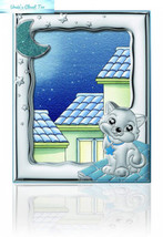 "Silver Touch USA Sterling Picture Kitty Frame, Blue, 5"" x 7"" - $157.30"
