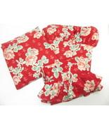 Ralph Lauren Elena Rose Floral Red Ruffled 3-PC Twin Sheet Set - $56.00