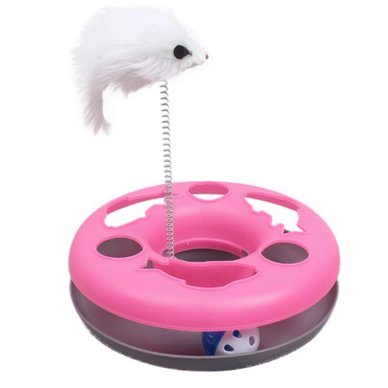 Toys For Cats Spring Mice Amusement Multifunctional Disk Play Activity Pets