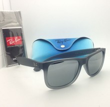 Ray-Ban Sunglasses JUSTIN RB 4165 852/88 Rubber Grey w/Grey Slvr mirror gradient - $159.95